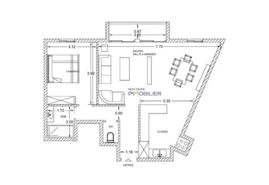 A VENDE -Appartement 2 pièces P